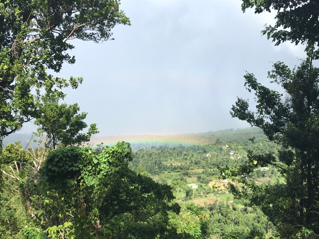 A rainbow on the Caribbean island of Dominica