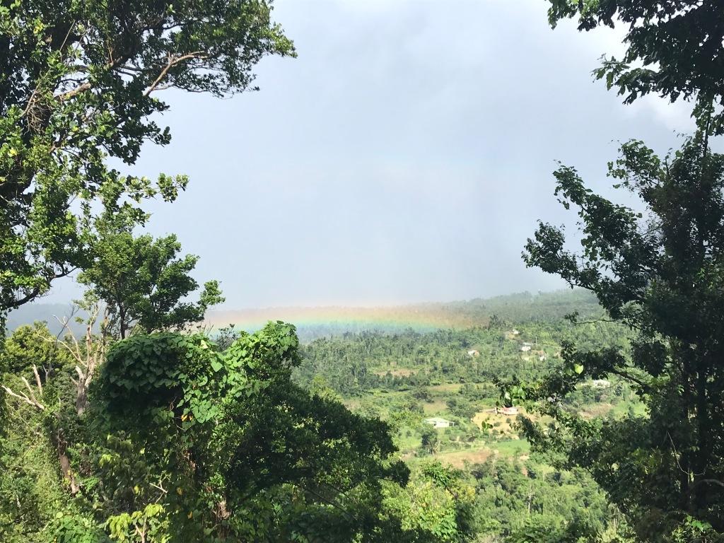 A rainbow on the Caribbean island of Dominica